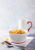 Healthy breakfast with corn flakes Royalty Free Stock Photography