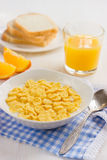 Healthy breakfast. Corn flakes and milk. Stock Image