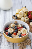 Healthy Breakfast (Cornflakes with Fruits) Royalty Free Stock Photography