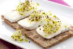 Healthy breakfast with crispbread Royalty Free Stock Images
