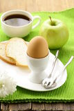 Healthy breakfast with eggs Stock Image