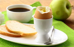 Healthy breakfast with eggs Stock Photography
