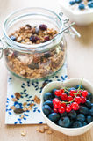 Healthy breakfast with granola and fresh fruits Stock Image