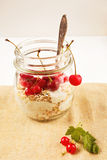 Healthy breakfast with granola Royalty Free Stock Images