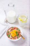 Healthy breakfast with granola royalty free stock image