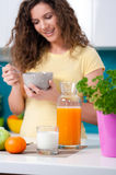 Healthy breakfast for a healthy life Royalty Free Stock Images