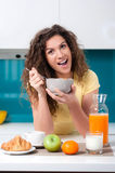 Healthy breakfast for a healthy life Royalty Free Stock Image