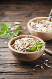 Healthy breakfast with homemade granola Royalty Free Stock Photography