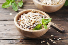 Healthy breakfast with homemade granola Royalty Free Stock Photos