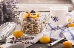 Healthy Breakfast, Homemade Oatmeal with kumquats Stock Image