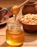 Healthy breakfast with honey Royalty Free Stock Photo