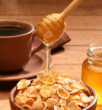 Healthy breakfast with honey Royalty Free Stock Images