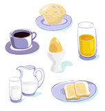 Healthy breakfast icons Royalty Free Stock Images