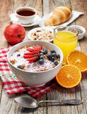 Healthy breakfast ingredients Royalty Free Stock Photography