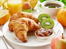 Freshly baked croissants Royalty Free Stock Images