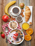 Healthy breakfast ingredients Royalty Free Stock Photo