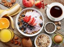 Healthy breakfast ingredients Royalty Free Stock Photo