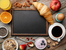 Healthy breakfast ingredients Stock Image