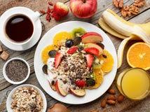 Healthy breakfast ingredients Royalty Free Stock Images