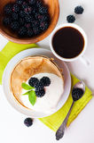 Healthy breakfast isolated Royalty Free Stock Images