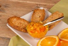 Healthy breakfast with marmelade Stock Photo