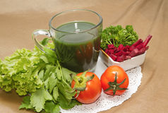 Vegetable juice and Beetroot  salad Stock Photo