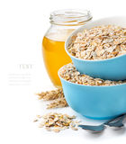 Healthy breakfast,  mixture of cereal flakes Royalty Free Stock Photo