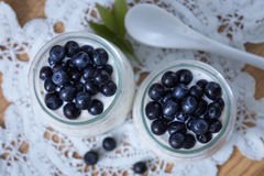 Healthy breakfast or morning snack with chia seeds vanilla puddi Stock Image