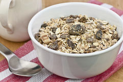 Healthy breakfast muesli Royalty Free Stock Photos