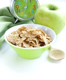 Healthy breakfast - muesli and apple Royalty Free Stock Photo