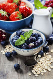 Healthy breakfast - muesli and berries Royalty Free Stock Photo