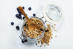 Healthy breakfast - muesli and berries Stock Photos