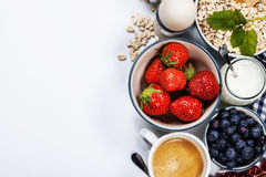 Healthy breakfast - muesli and berries Stock Image