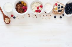 Concept of healthy breakfast Stock Photography