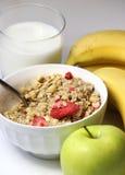 Healthy breakfast: muesli and fruits Stock Image