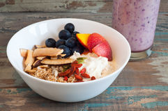 Healthy Breakfast Muesli Royalty Free Stock Image