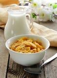Breakfast of muesli with milk Stock Images