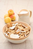Healthy breakfast - musli and fruits Royalty Free Stock Photo