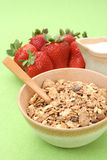 Healthy breakfast - musli and strawberries Royalty Free Stock Photo