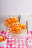 Healthy breakfast, oat cereal with fruit Royalty Free Stock Photography