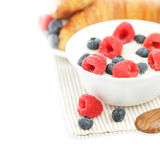 Healthy breakfast - oat flakes and berry Stock Photo