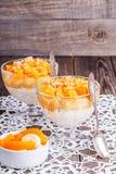 Healthy breakfast, oat porridge with fruit Royalty Free Stock Image