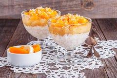 Healthy breakfast, oat porridge with fruit Royalty Free Stock Photo