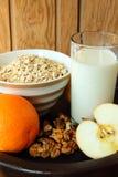 Healthy breakfast of oatmeal Stock Photos