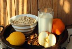 Healthy breakfast of oatmeal Royalty Free Stock Photos