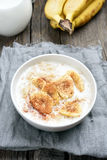Healthy breakfast oats porridge Royalty Free Stock Images