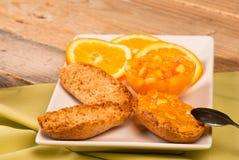 Healthy breakfast with orange Stock Photo
