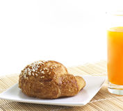 Healthy Breakfast with orange and apple Stock Photo