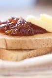 Healthy Breakfast. With orange jam toast Stock Photo