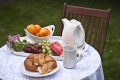 Healthy Breakfast Outdoors Royalty Free Stock Photo